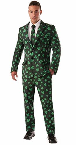 Forum Novelties Men's Shamrock Suit and Tie Xl Costume, Green, X-Large -