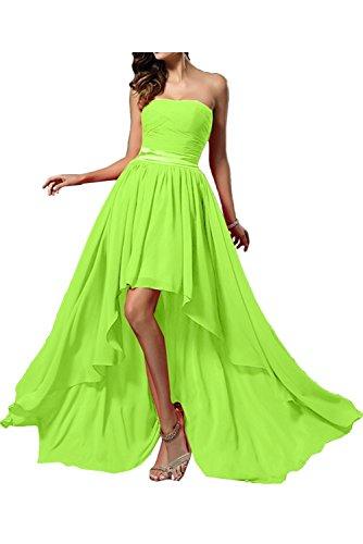 Damen Marie Gruen Partykleider Herzausschnitt Lemon Linie A Chiffon La Braut Lang Promkleider Abendkleider aFTxdUqn
