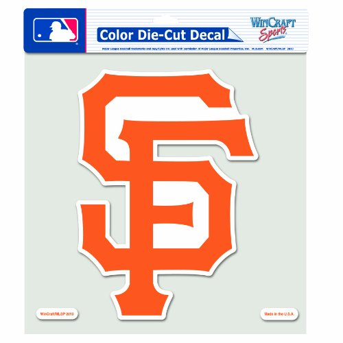 WinCraft MLB San Francisco Giants 8-by-8 Inch Diecut Colored Decal (Francisco Giants San Decal)