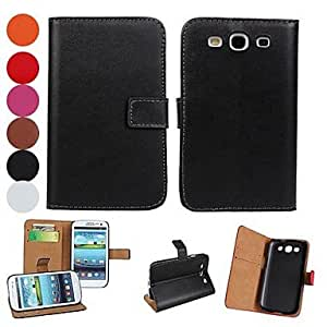 TOPAA Light Surface PU Leather Full Body Case with Stand and Card Slot for Samsung Galaxy S3 I9300 (Assorted Colors)