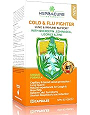 COLD & FLU FIGHTER * NEW Echinacea , Licorice ,Quercetin , Zinc , EXCEPTIONAL LUNG AND IMMUNE SUPPORT / NEW