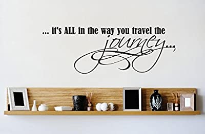 Design with Vinyl 1 Zzz 629 Decor Item its All in The Way You Travel The Journey Life Quote Wall Decal Sticker, 10 x 20-Inch, Black