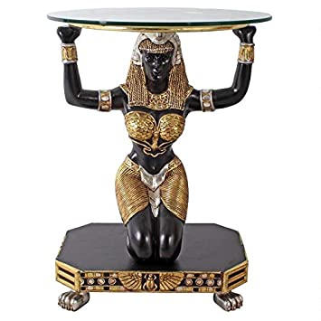 Design Toscano Egyptian Goddess Ma at Console Table