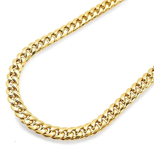 10K Yellow Gold Men Women's 9 MM Hollow Miami Cuban Bracelet lobster Clasp, 9 Inches by Jawa Fashion