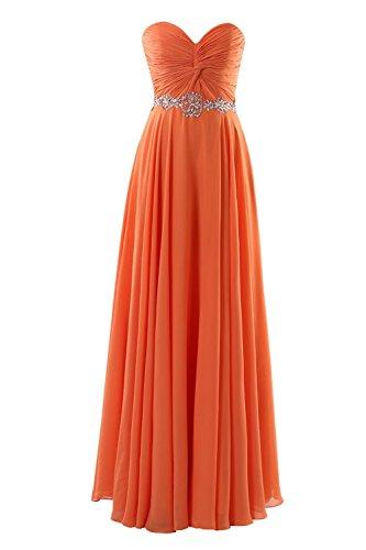 YiYaDawn - Vestido - trapecio - para mujer naranja