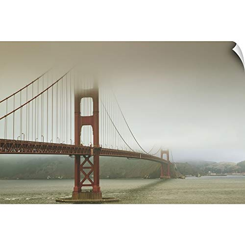 CANVAS ON DEMAND Golden Gate Bridge in The Mist; San Francisco, California, United States of America Wall Peel A.