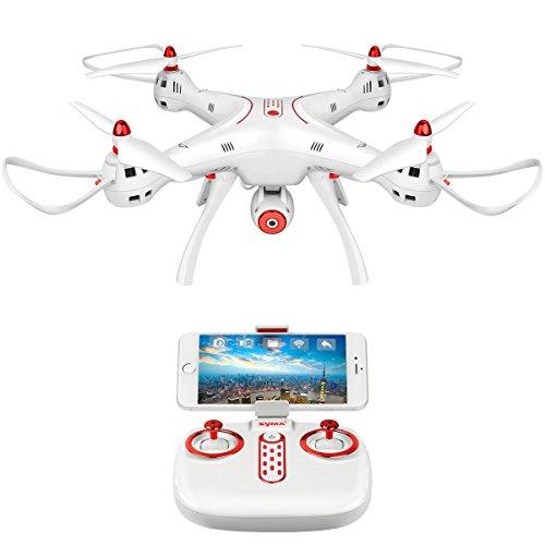 DoDoeleph Syma X8SW WiFi FPV Quadcopter Drone 720P HD Camera RC 2.4G 4CH 6 Axis Altitude Hold Drone