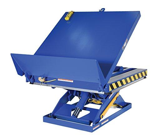 Vestil EHLTT-H-3648-2-47 Lift and Tilt Platform Scissor Table, 2000 lb, 23.25