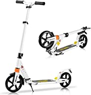 Scooter for Adults Scooters for Teens 12 Years and Up, Disc and Rear Dual Brakes Design, Kick Scooters with Ca