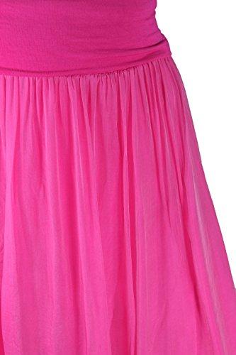 Rock Damen Lang Maxirock 2lagig Lagenlook Pink Neu Sexy Seide 38 40 42 44  AgyvmkoNdU ... 2276571ea2