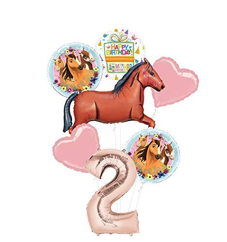 Mayflower Products Spirit Riding Free Party Supplies 2nd Birthday Brown Horse Balloon Bouquet Decorations