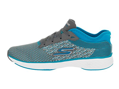 Skechers Performance Womens Go Sport Walking Scarpa Carboncino / Turchese