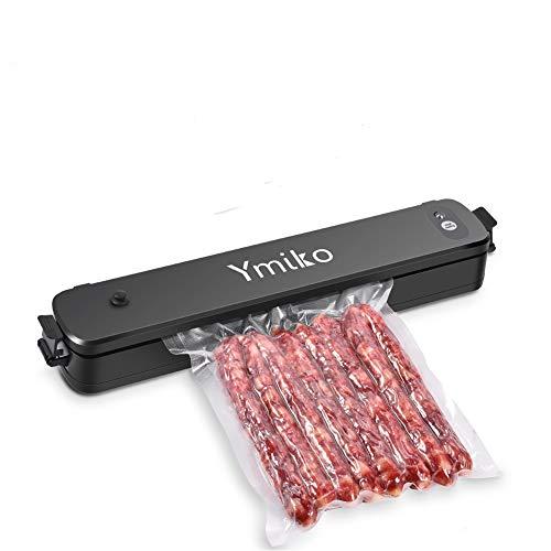 Vacuum Sealer Machine,Ymiko Portable Compact Vacuum Sealing System for Vacuum and Seal/Seal,Sous Vide Cooking Mufti-function Black