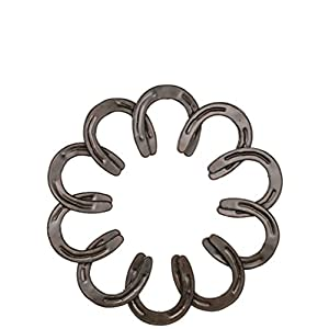 "Sullivans 20"" Overlapping Horseshoes Wreath Plaque,Brown,20"" diameter x 0.5"" thick 90"