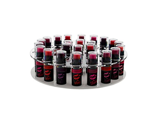 Marketing Holders Rotating Lipstick & Essential Oil Organizer Easy Spin Durable Display Stand Home Retail or Expos and Shows (6, Clear) by Marketing Holders (Image #2)