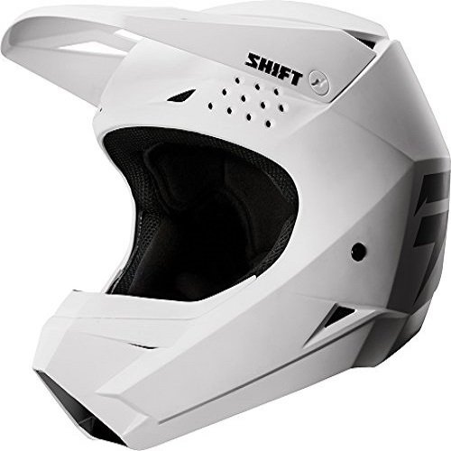 Shift Racing Whit3 Men's Off-Road Motorcycle Helmets - White / Large by Shift (Image #2)'