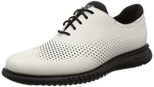 Cole Haan Mens 2.Zerogrand Laser Wing Oxford Optic White Leather-black BRzm50Iah