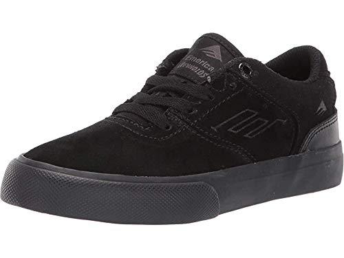 Emerica Boys' The Reynolds Low Vulc Youth Skate Shoe, Black, 5C Medium US Big Kid