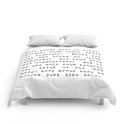 Society6 Love Grows Best In Little Houses Comforters King: 104'' x 88'' by Society6
