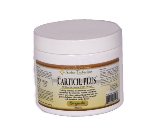 Carticil Plus 4oz- An herbal supplement to aid in arthritis and digestive problems in older animals.