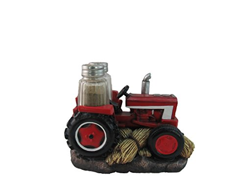 ih casa decor Tractor Salt And Pepper Shaker, Red