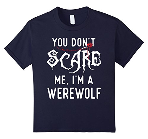 Cheap Halloween Costumes For Friends (Kids Funny Werewolf Shirts Halloween Costume Joke Gag Gifts. 8 Navy)