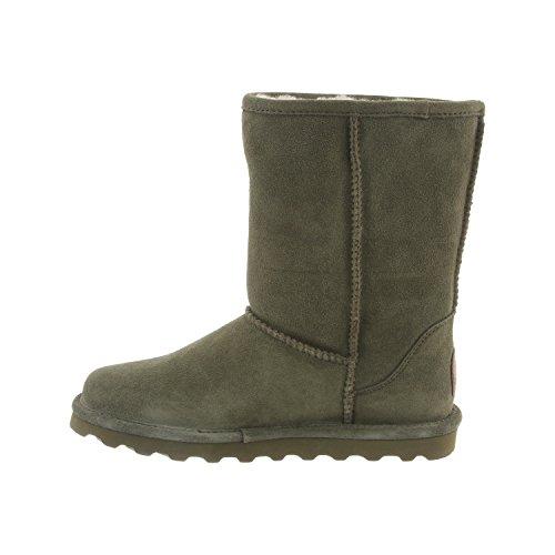 Fur Women's Lined Distressed Elle BEARPAW Olive Short 8 Winter Sheepskin Boot RYZYwd