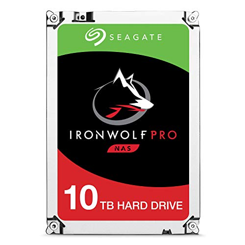 Seagate IronWolf Pro 10TB NAS Internal Hard Drive HDD - 3.5 Inch SATA 6Gb/s 7200 RPM 256MB Cache for RAID Network Attached Storage, Data Recovery Rescue Service (ST10000NE0004)