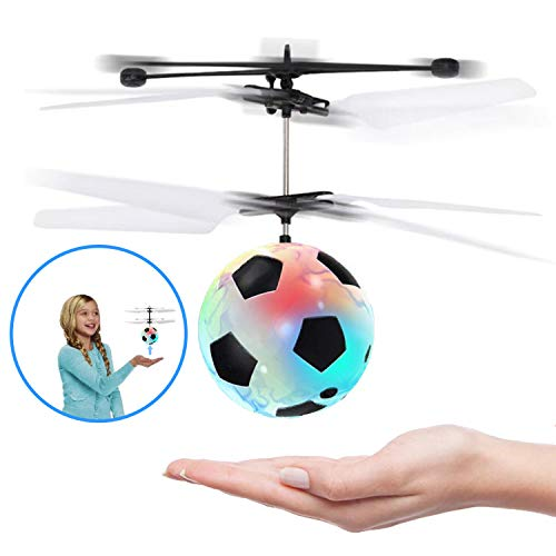 PalmTalkHome RC Flying Ball Kids Toys - Mini Infrared Induction Flying Helicopter Drone with Flashing LED Lights Rechargeable Games Toys Balls for Indoor / Outdoor Birthday Favor Boys Girls Adults