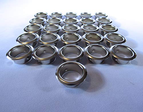 Candle Cup Inserts - Grommets - Nickel - 26 Pieces - 7/8 Inch Hole Size - Inserts Guitar Part