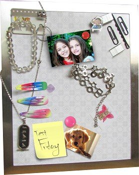 Magically Display Your Style! Stick It, Magnetic Accessory Gallery - Organize Jewelry, Home, Office accessories and more..