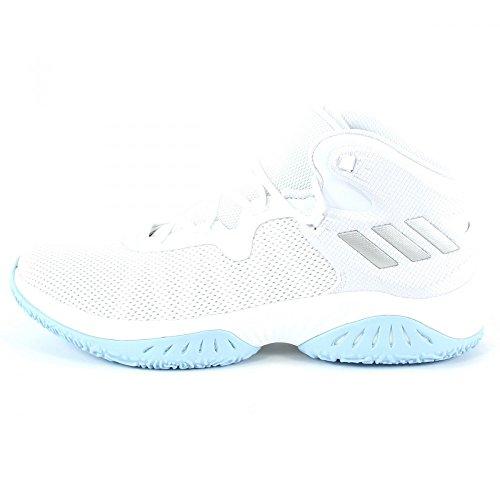adidas Explosive Bounce, Scarpe da Basket Uomo Bianco (Ftwwht/Silvmt/Lgsogr Ftwwht/Silvmt/Lgsogr)