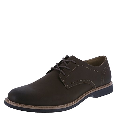 Dexter Men's Brown Men's Burt Plain-Toe Oxford 10 Wide