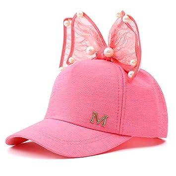 73796790a516c Queta Bonnet pour Enfant, Style coréen avec M Lettre Papillon Kontted Filet  Casquette de Baseball