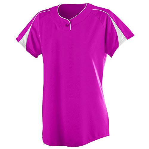 - Augusta Sportswear Women's Diamond Softball Jersey S Power Pink/White