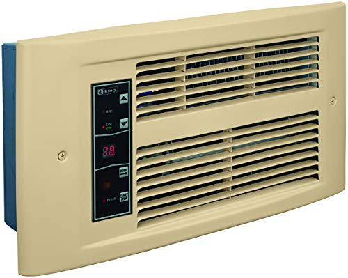 2S 1500W 120V 2-Stage Smart Electric Wall Heater With Thermostat and Remote Control, Almondine ()