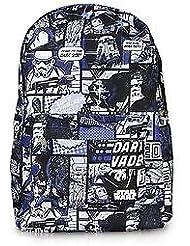 Loungefly Star Wars Comic Print Darth Vader/Jedi Blue/Black Backpack