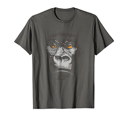 (Mens Cool Real 3D Monkey Apes T-shirt Gorilla Head Face Tshirt XL Asphalt)