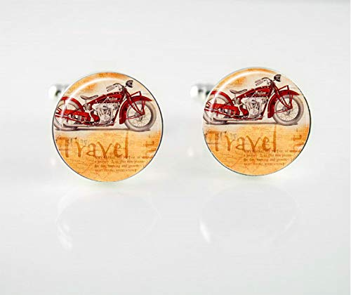 Motorcycle Travel Cuff Links ()