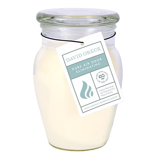 David Oreck Candle Company Odor Eliminating Natural Soy Candles, Creamy Vanilla, 18oz, 100 Hour Burn time ()