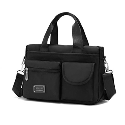 Lady Nylon Satchel Klassische Umhängetasche Handtasche Mehrere Taschen Crossbody Tasche Für Frauen Multicolor Black g1FnHAi3N