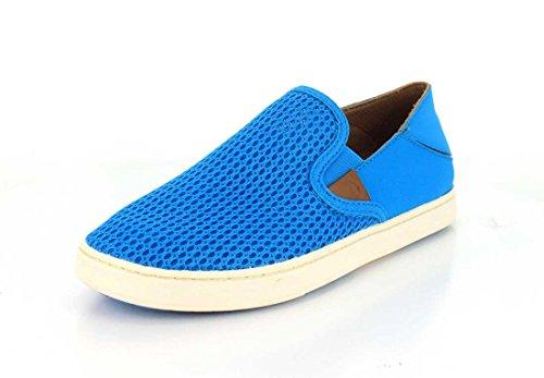 OluKai Womens Pehuea Vivid Blue/Vivid Blue Slip-On - 9