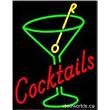 "Custom made from order shop business office LED neon sign 20"" x 15"" x 2"" - Cocktails"
