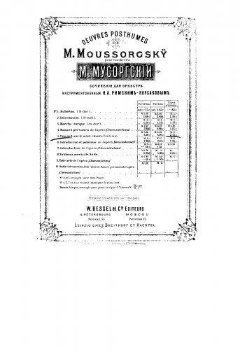 Night on Bald Mountain - Revision by Rimsky-Korsakov (1886) For Piano 4 hands (Artsybushev) - Score (Night On Bald Mountain Piano Sheet Music)