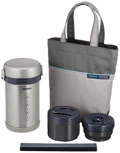 Zojirushi Thermal Stainless Lunch Box BENTO BAKO   SL-NC09-ST (Japan Import)
