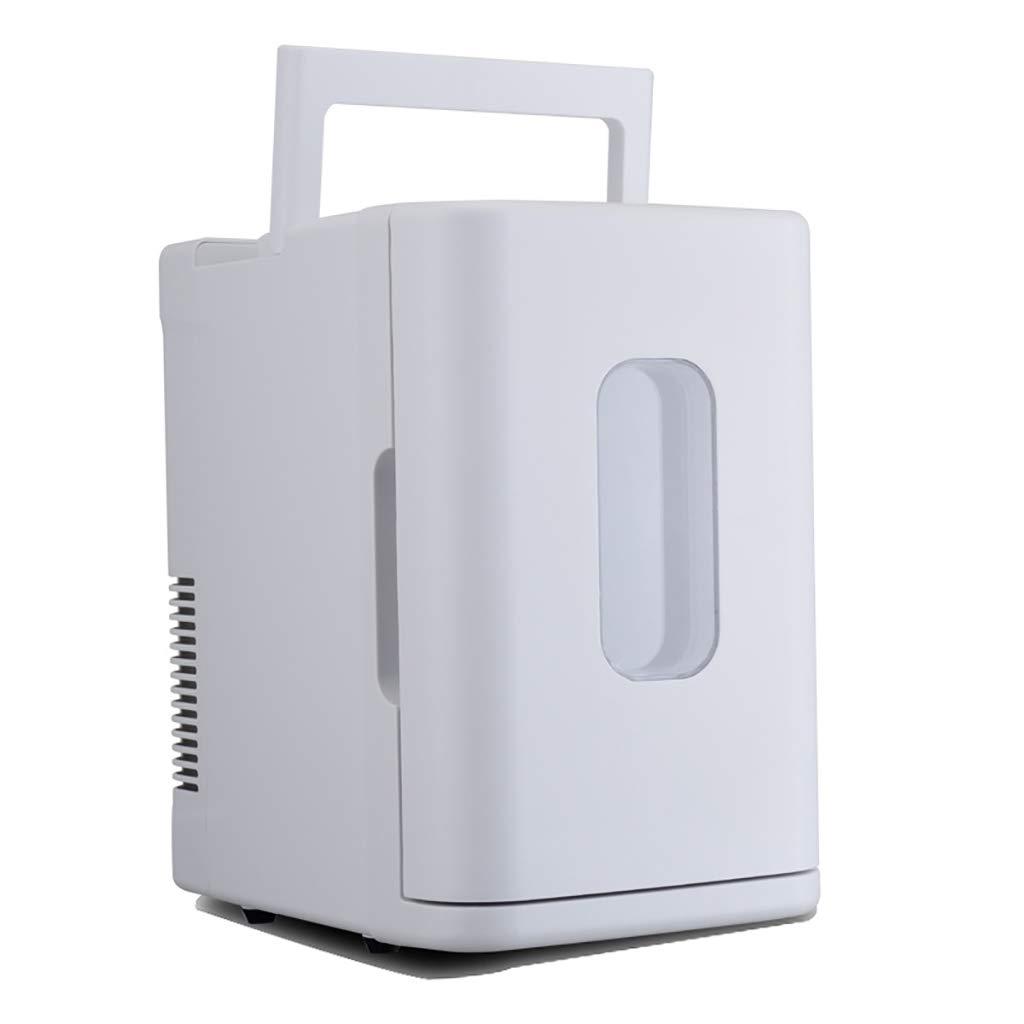 10L小型車用冷蔵庫、携帯用小型ワイン冷蔵庫キャンプ用クーラー&ウォーマーバッグ、カーヒーター、ボックスカー冷却。  white B07QW269HT