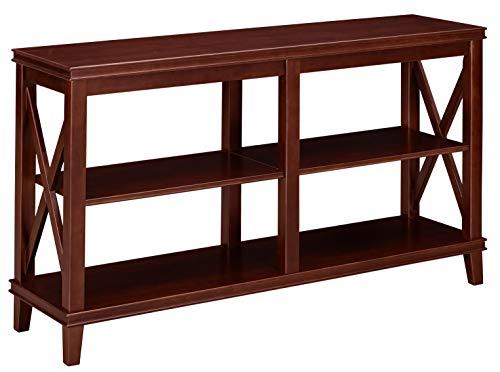 Table 3 Shelf (Ravenna Home Wheeler 3-Shelf Wood Storage Console Table, 54