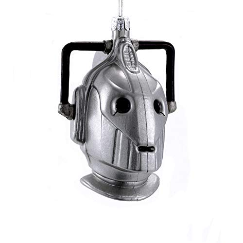 (Kurt Adler Glass Ornament with S-Hook and Gift Box, Doctor Who Collection (Cyberman))