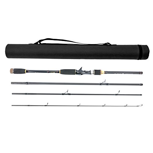 JEKOSEN Portable Travel Casting/Spinning Bass Fishing Rods with Tube Case,Lightweight Carbon Fiber Fishing Pole,Salt/Fresh Water,Medium Power,Smooth Guides&Durable Reel Seats,5.9ft-8.9ft