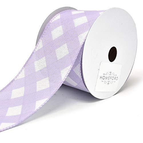 Weave Easter Basket - Homeford Premium Lattice Basket Weave Wired Ribbon, 2-1/2-Inch, 10-Yard (Lavender)